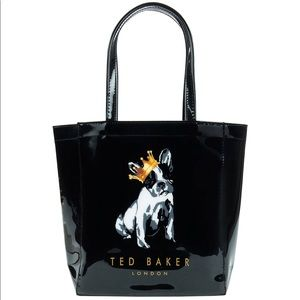 Ted Baker French bulldog cotton dog tote